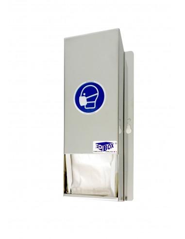 Stainless steel mask dispenser