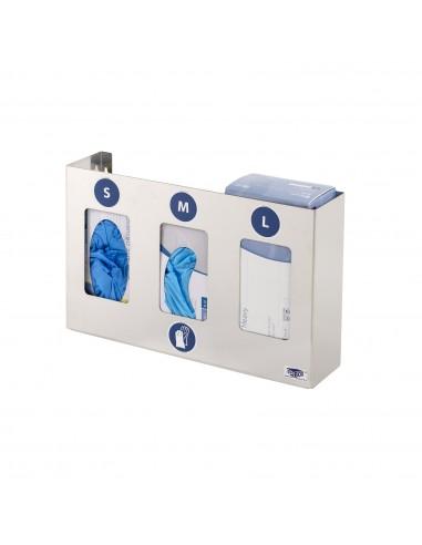 Distributeur inox de gants - 3 boîtes