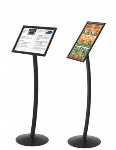 Display on desk stand black 2 pages A4