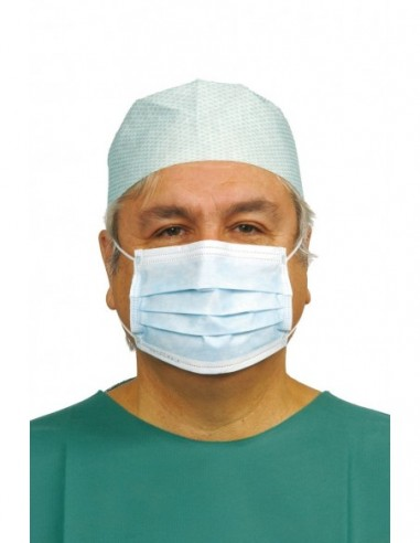 Box of 50 surgeons face masks with loops
