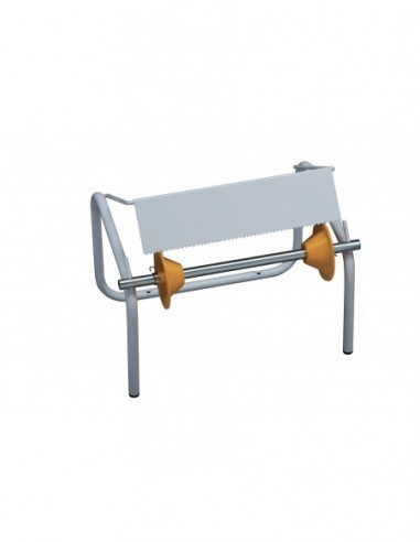 Wall monted dispenser for wiper roll